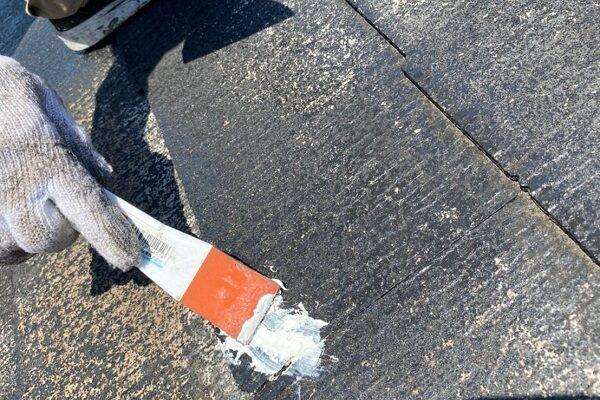 東京都大田区 S様邸 屋根塗装 ひび割れ(クラック) シーリング補修 (2)
