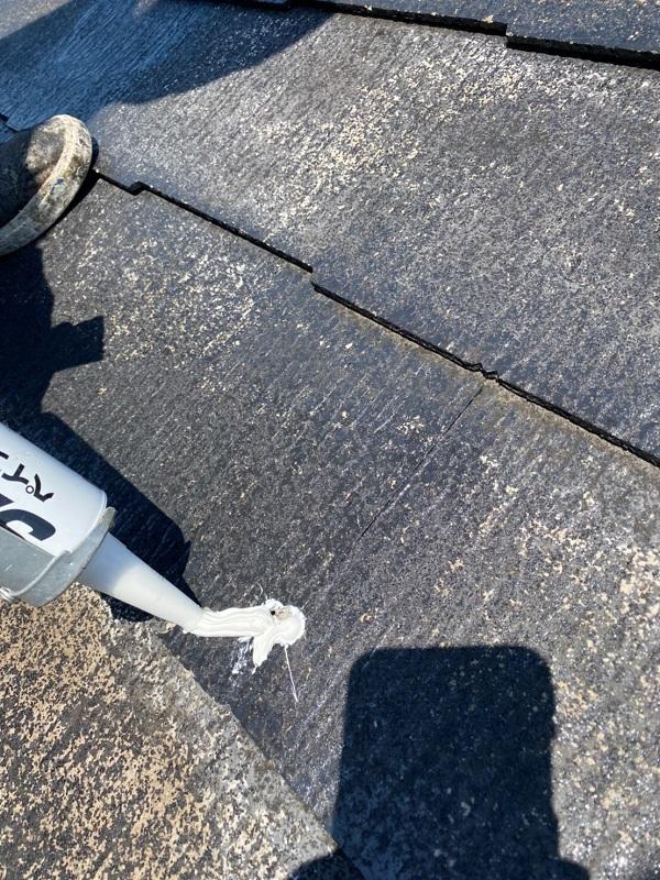 東京都大田区 S様邸 屋根塗装 ひび割れ(クラック) シーリング補修 (1)