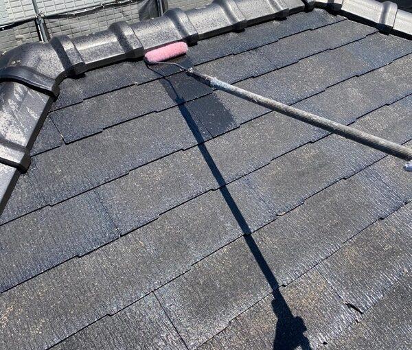 東京都大田区 S様邸 屋根塗装 下塗り~上塗り 日本ペイント ファインパーフェクトベスト (10)