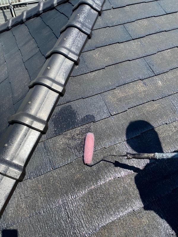 東京都大田区 S様邸 屋根塗装 下塗り~上塗り 日本ペイント ファインパーフェクトベスト (9)