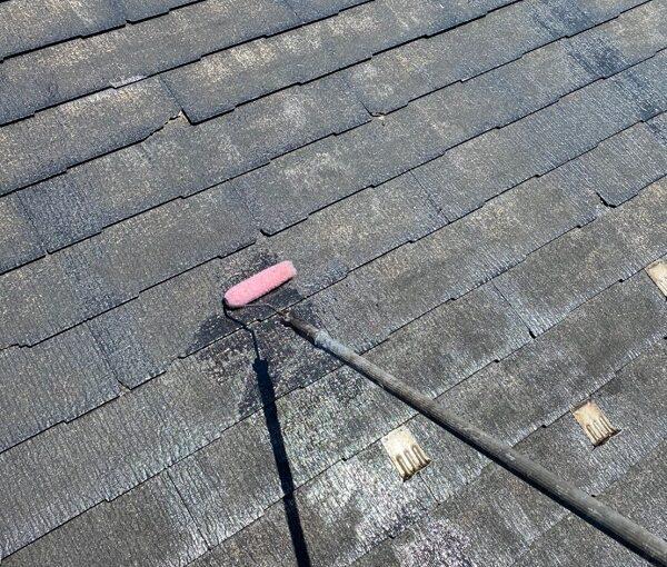 東京都大田区 S様邸 屋根塗装 下塗り~上塗り 日本ペイント ファインパーフェクトベスト (8)