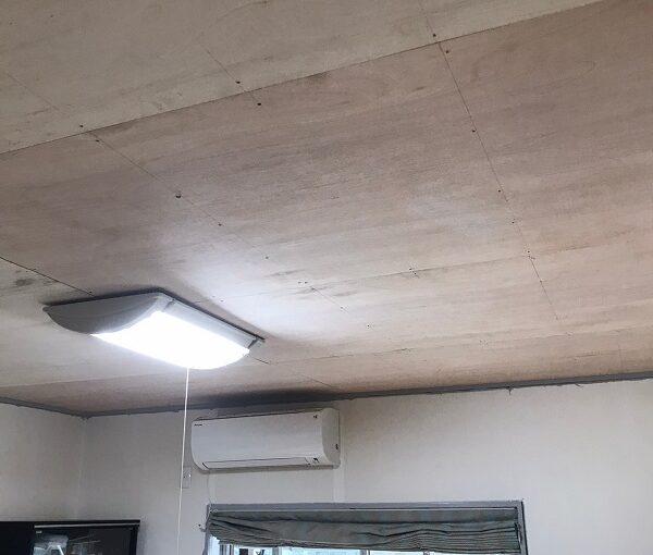 東京都大田区 S様邸 屋根塗装 雨漏り 室内天井 ベニア合板張り (1)