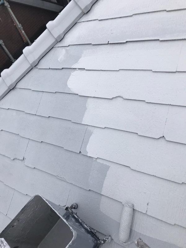 東京都大田区 S様邸 屋根塗装 下塗り~上塗り 日本ペイント ファインパーフェクトベスト (3)