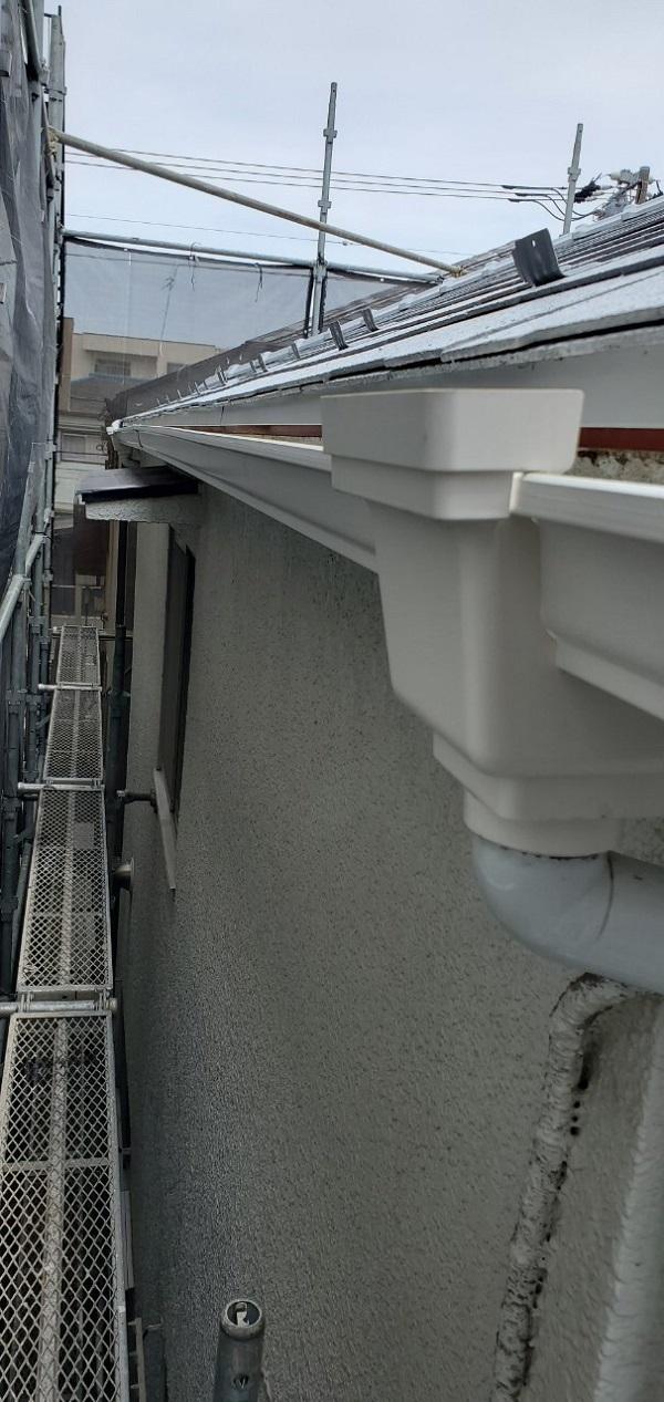 東京都大田区 S様邸 雨樋交換 雨樋が破損するとどうなるか (1)