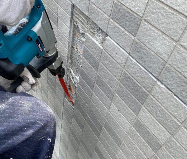 東京都江戸川区 K様邸 雨漏り補修 外壁からの雨水侵入 タイル外壁 (4)