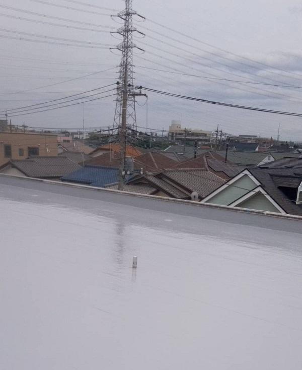 埼玉県春日部市 マンション 防水工事 遮熱性トップコート エクセルトップ (12)