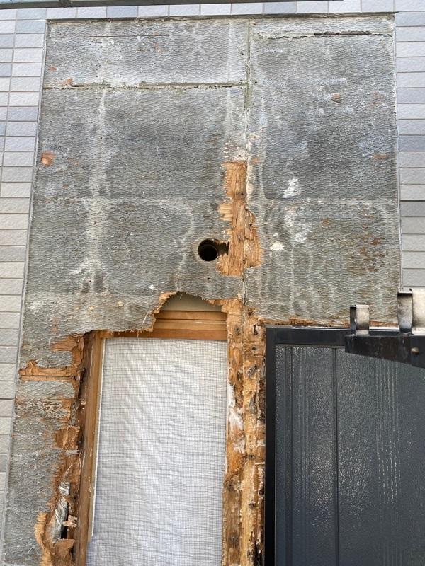 東京都江戸川区 K様邸 雨漏り補修 外壁からの雨水侵入 タイル外壁 (8)