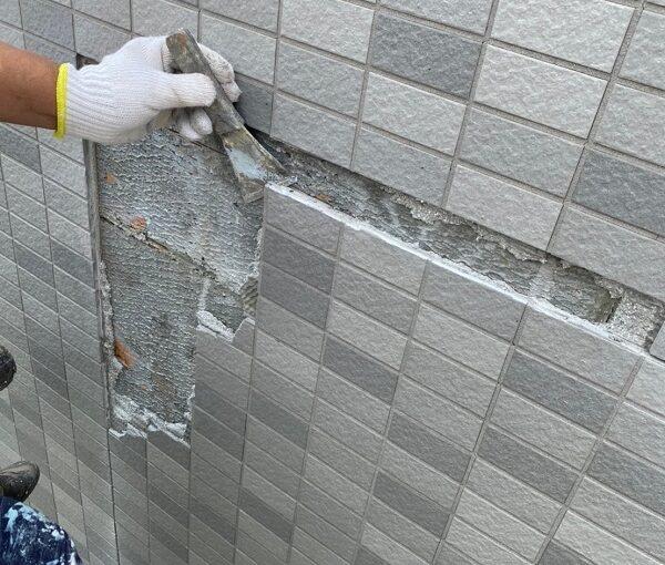 東京都江戸川区 K様邸 雨漏り補修 外壁からの雨水侵入 タイル外壁 (6)