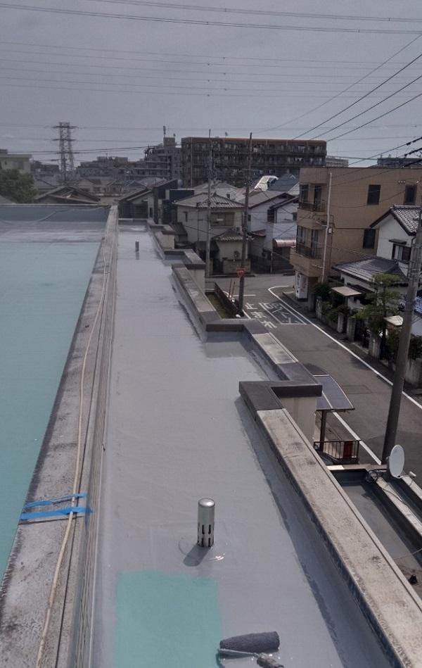 埼玉県春日部市 マンション 防水工事 遮熱性トップコート エクセルトップ (11)