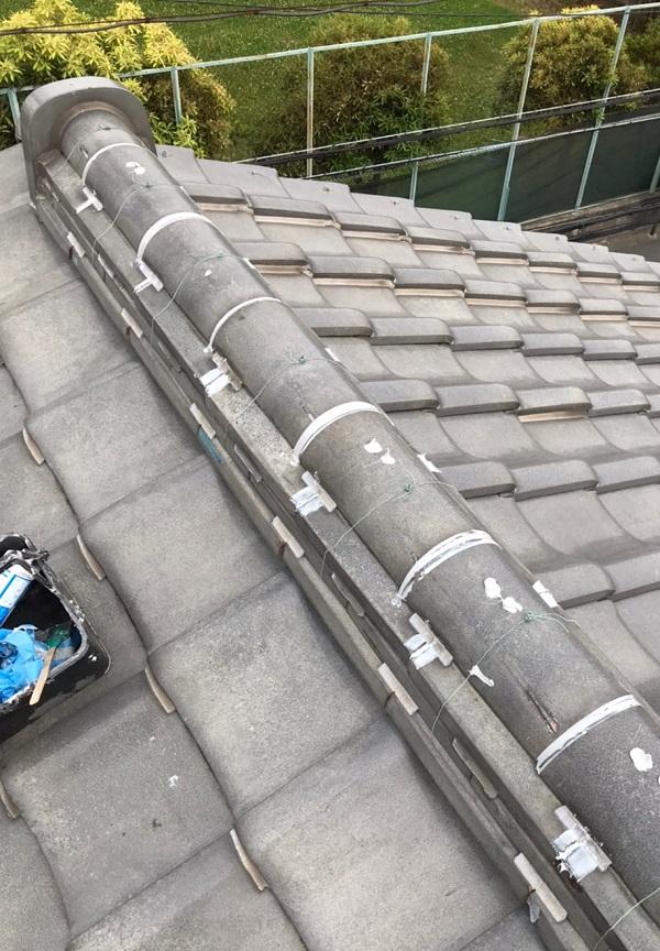 東京都葛飾区 K様邸 雨漏り補修工事 屋根からの雨漏り シーリングによる補修 (7)