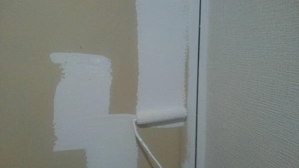 東京都荒川区 マンション 内装工事 巾木、ドア塗装 完工 (1)