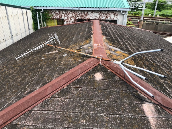 千葉県松戸市 アンテナ撤去作業 緊急対応 建物の事でお困りの際はお気軽にご相談ください! (1)