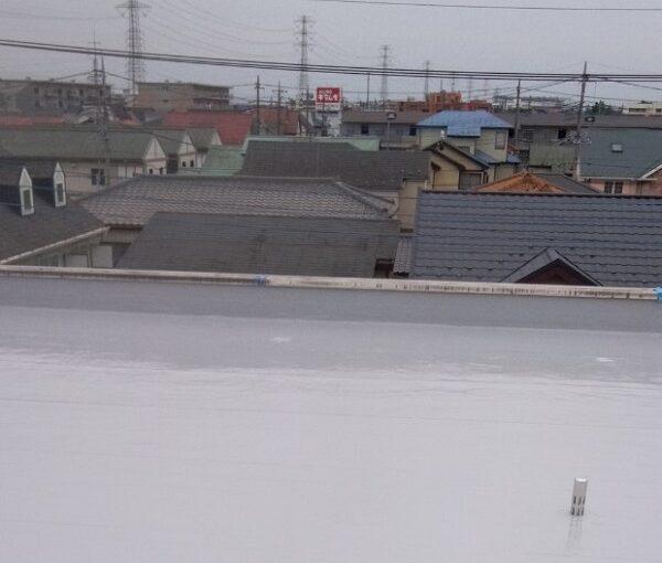 埼玉県春日部市 マンション 防水工事 遮熱性トップコート エクセルトップ (6)