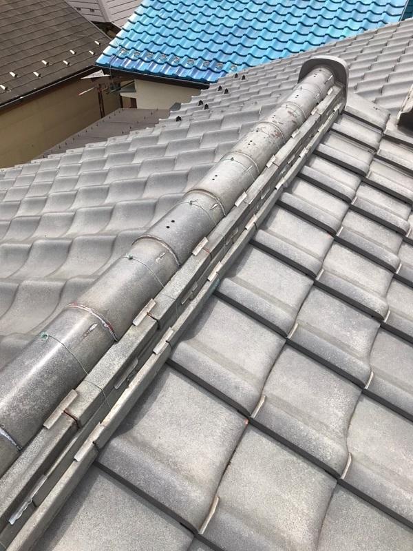 東京都葛飾区 K様邸 雨漏り補修工事 屋根からの雨漏り シーリングによる補修 (4)