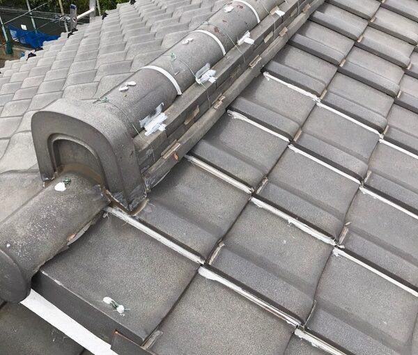 東京都葛飾区 K様邸 雨漏り補修工事 屋根からの雨漏り シーリングによる補修 (8)